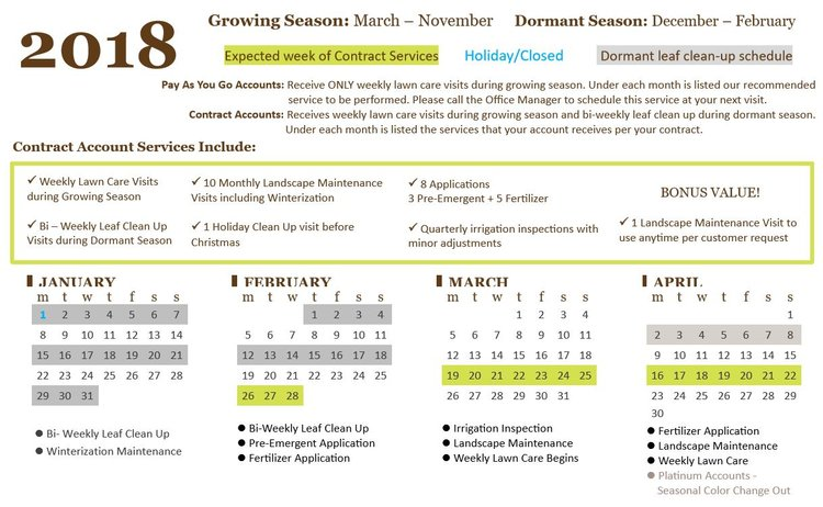 Service Schedule Graphic